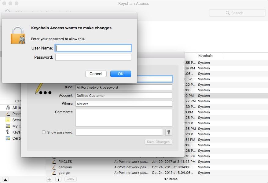Mac-də saxlanan WiFi şifrələrini necə tapmaq olar 2