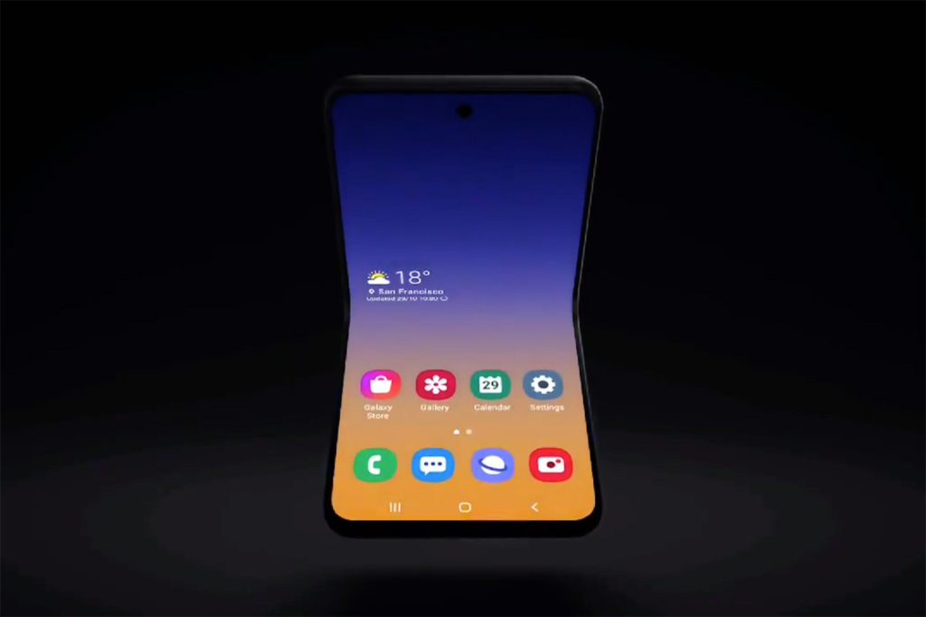 Визуелен Галакси Блум или Галакси Samsung Z Flip