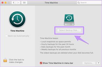استعادة آلة Mac Time Waste فارغة
