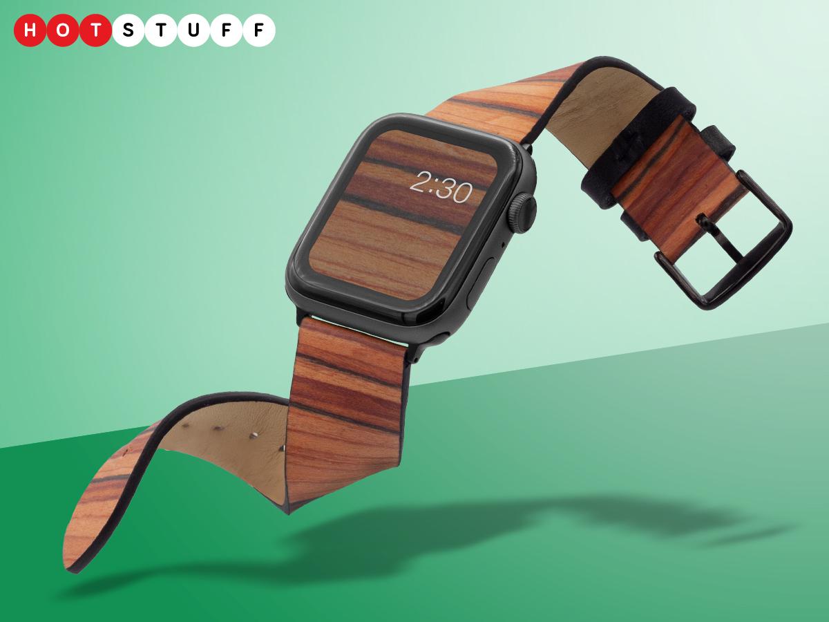 باندلي رجل Apple Watch رباط خشبي يضع الطبيعة على معصمك 1