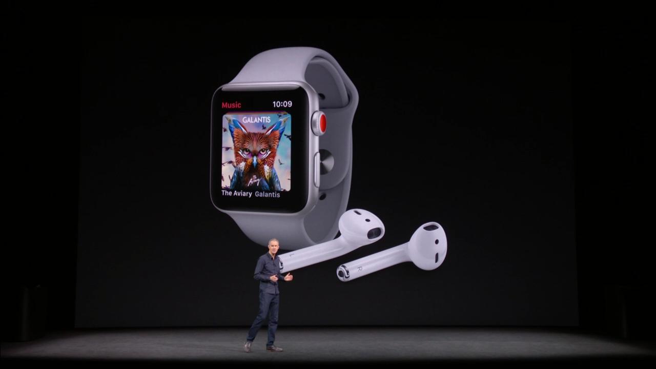 Tim Cook predstavuje novú značku Apple Watch Séria 3