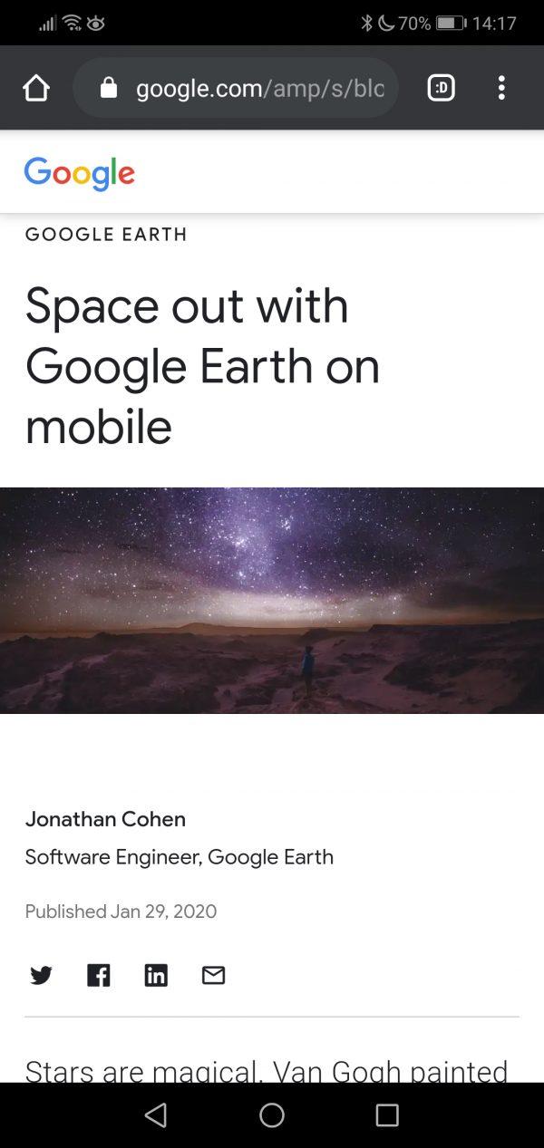 """Google Earth te lleva a ver las estrellas 2""""ancho ="""" 250 """"altura ="""" 528"""