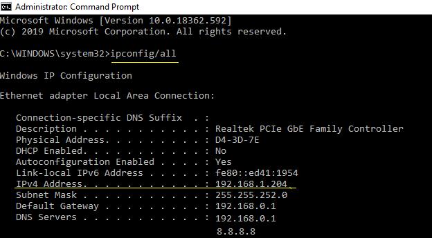 Como posso encontrar meu endereço de protocolo da Internet?