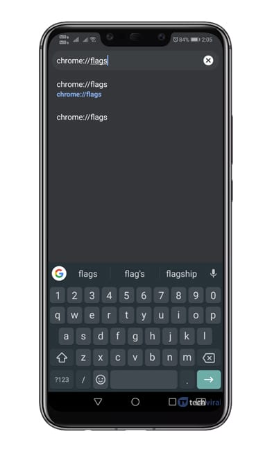 Mở 'Chrome: // flags'