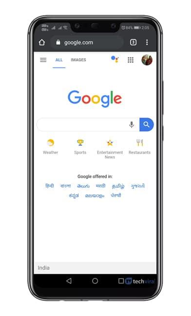 Trình duyệt Chrome mở
