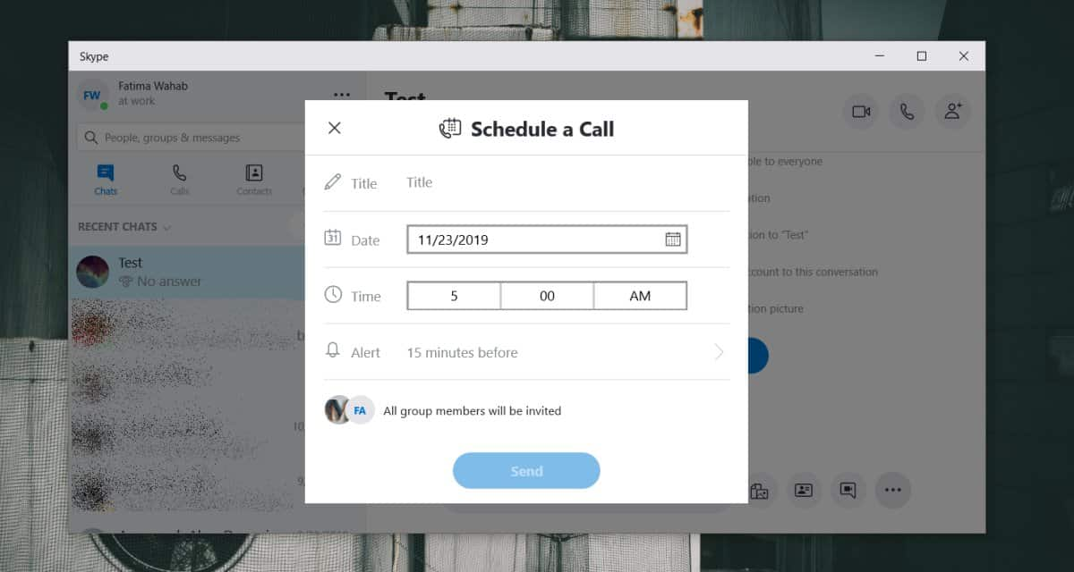 Cómo programar llamadas grupales Skype 1
