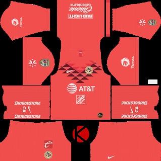 Kit penjaga gawang Club América