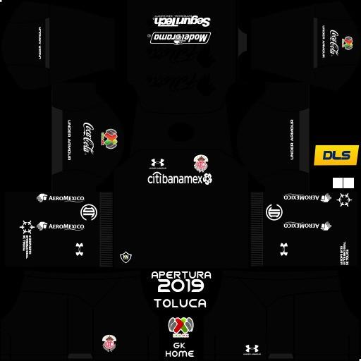 Kit penjaga gawang Deportivo Toluca