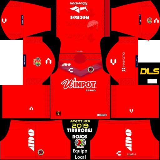 Hiu Merah dari pakaian lokal Veracruz