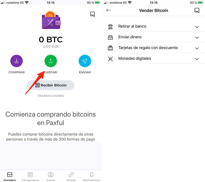 Stráviť bitcoíny
