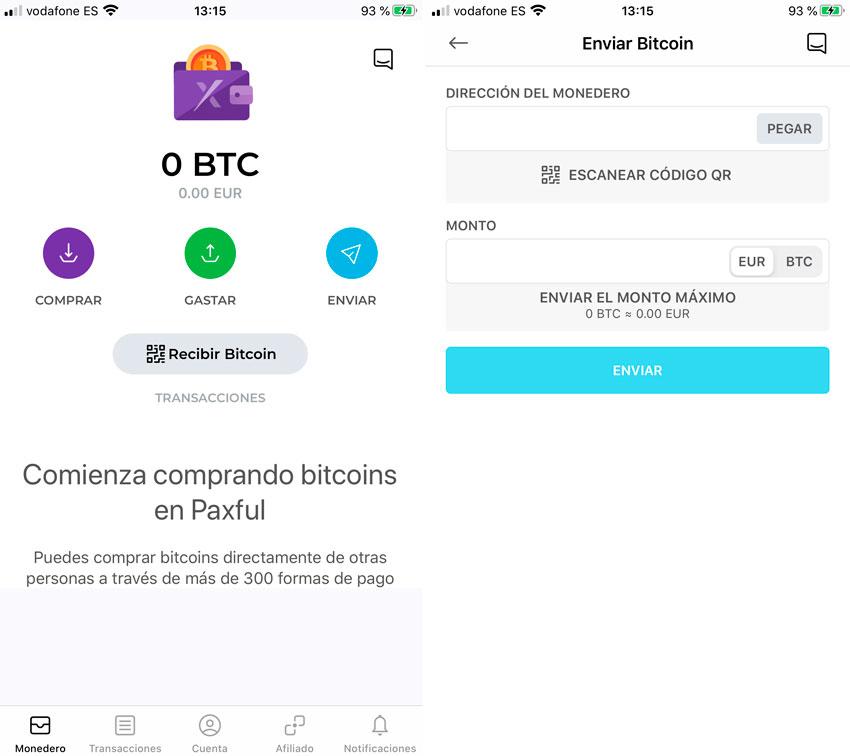 Poslať bitcoiny
