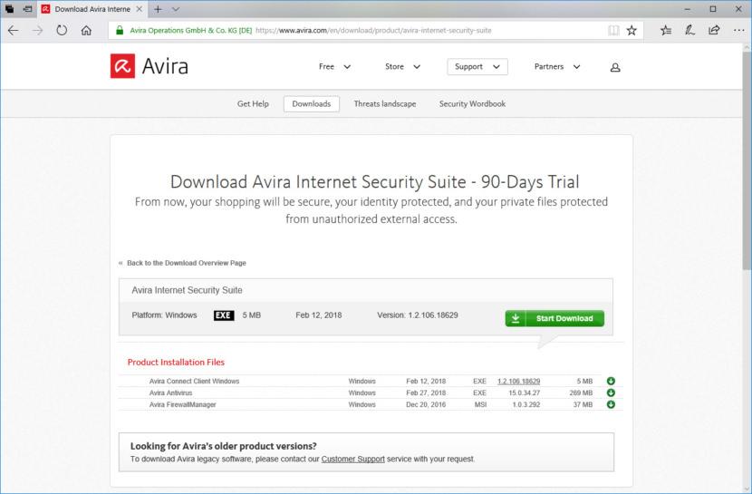Unduh Avira Internet Security Suite