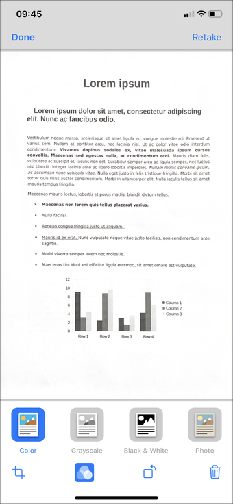 Aplicación de escaneo de documentos de iPhone Ipad 4