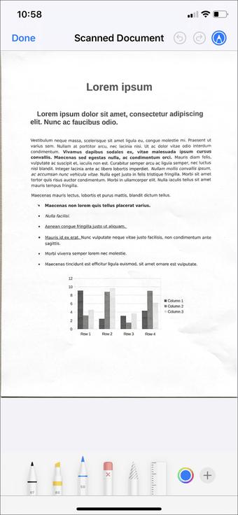 Aplicación de escaneo de documentos de iPhone Ipad 6