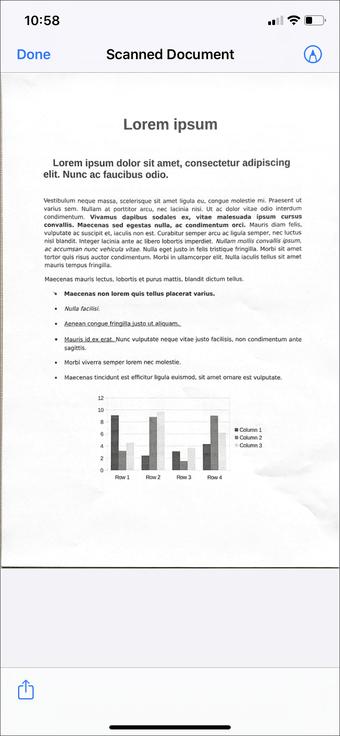 Aplicación de escaneo de documentos de iPhone Ipad 5