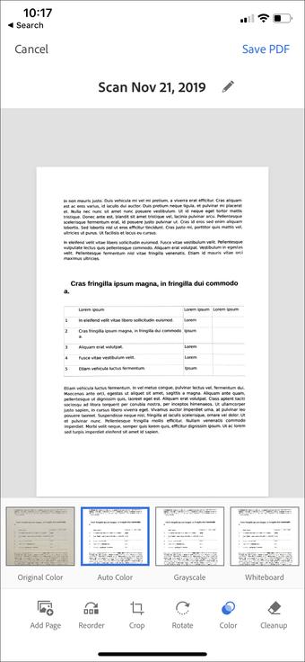 Aplicación de escaneo de documentos de iPhone Ipad 12