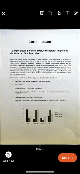 Aplicación de escaneo de documentos de iPhone Ipad 16