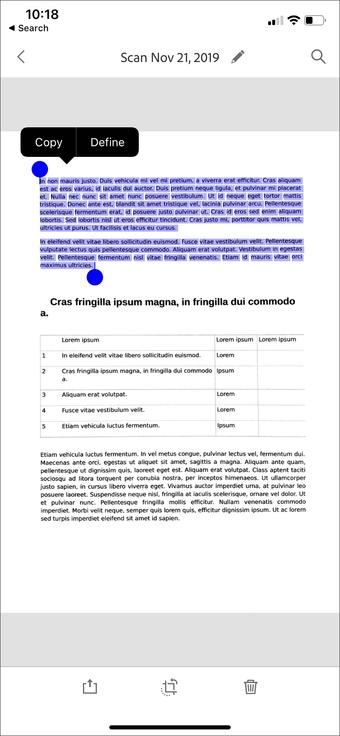 Aplicación de escaneo de documentos de iPhone Ipad 14