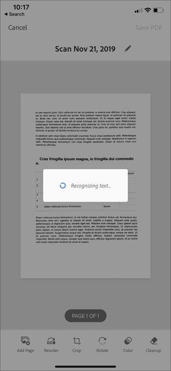 Aplicación de escaneo de documentos de iPhone Ipad 13