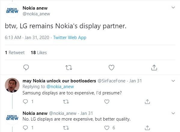 Nokia Mobile го користи дисплејот LG за мобилни телефони 2