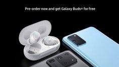 Сликите со промото за лактација откриваат дека Samsung ги нарачува новите Galaxy S20 и S20 Ultra Galaxy благодарение на пупки + како бесплатен бонус.