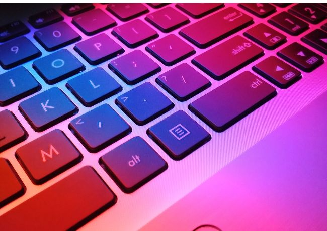 Increase typing speed on a colorful keyboard