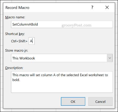 Menu Rekam opsi Makro di Excel