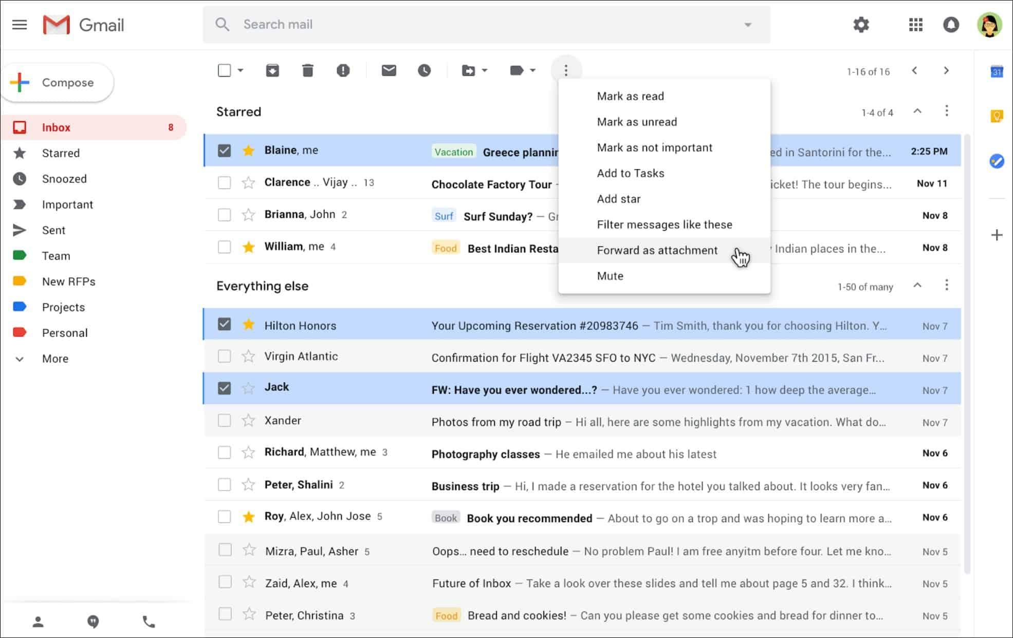 Google mengizinkan pengiriman email sebagai lampiran di Gmail 1