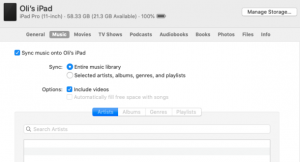 İpucu: MacOS Catalina-da Finder vasitəsilə musiqinizi iPhone ilə necə sinxronlaşdırmaq olar 5
