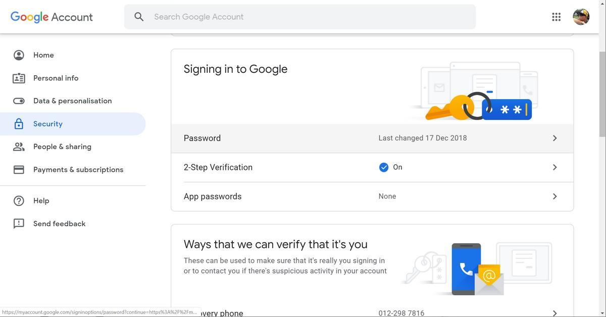 Cómo activar la autenticación de dos factores para su cuenta de Google 1