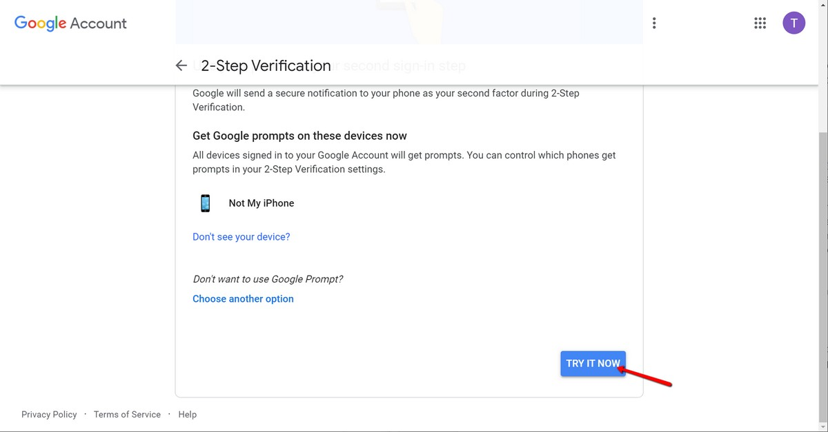 Cómo activar la autenticación de dos factores para su cuenta de Google 3
