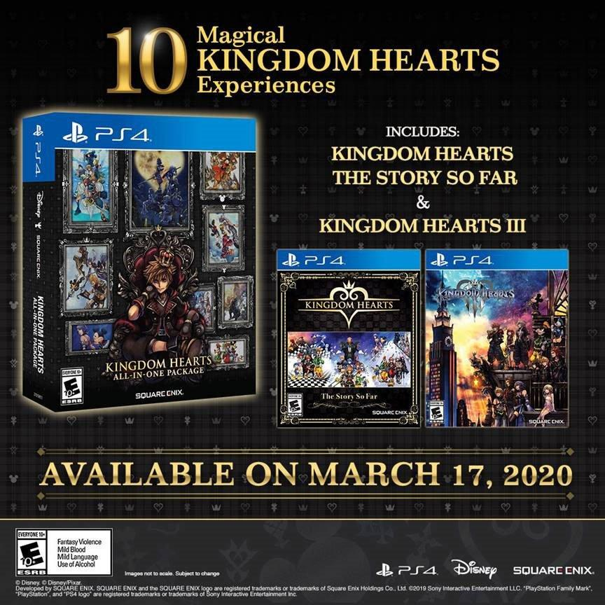 Paket Kingdom Hearts All-In-One mendapatkan edisi fisik tentang PS4 2