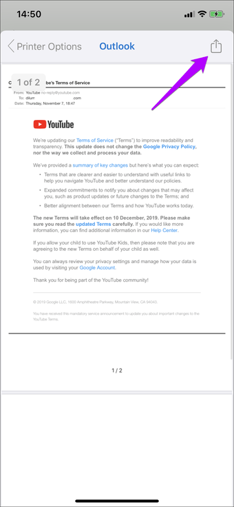 Simpan Email Sebagai Outlook Pdf Gmail Ios 4