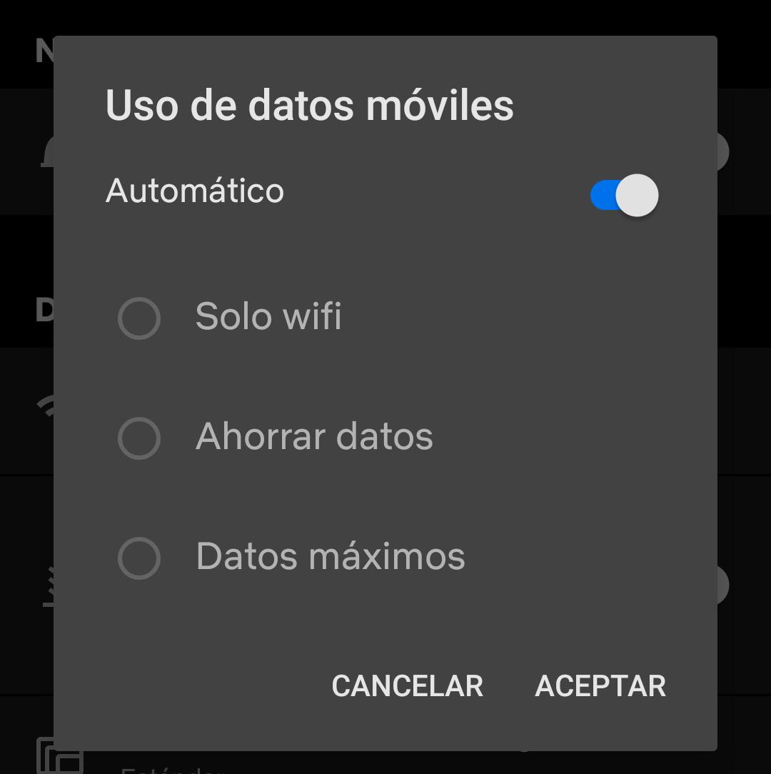 A Netflix salvará seus dados quando você usar o aplicativo em um telefone Android 1