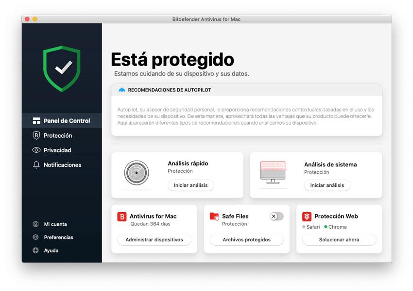 Protección en tiempo real de BitDefender