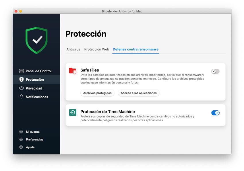Protección segura de copia de seguridad de archivos y Time Machine