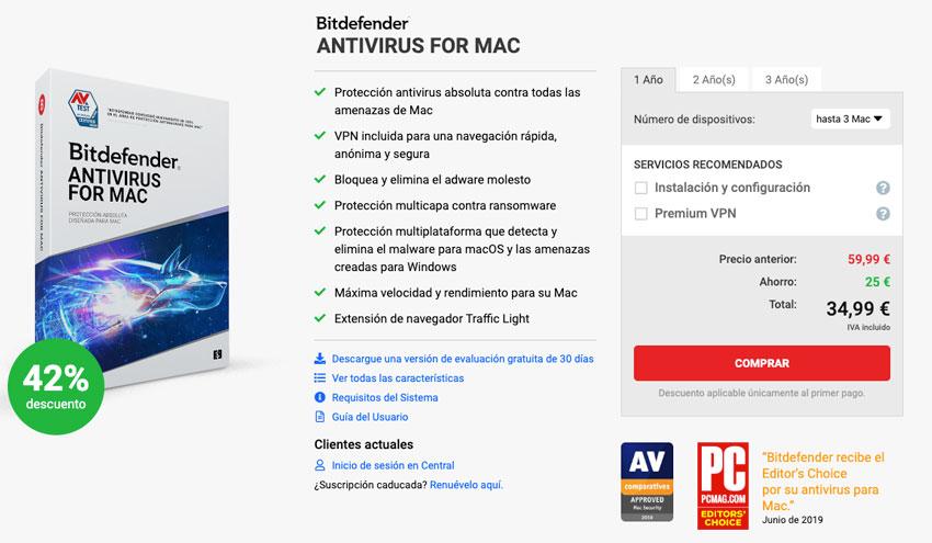 Comprar Bitdefender Antivirus para Mac