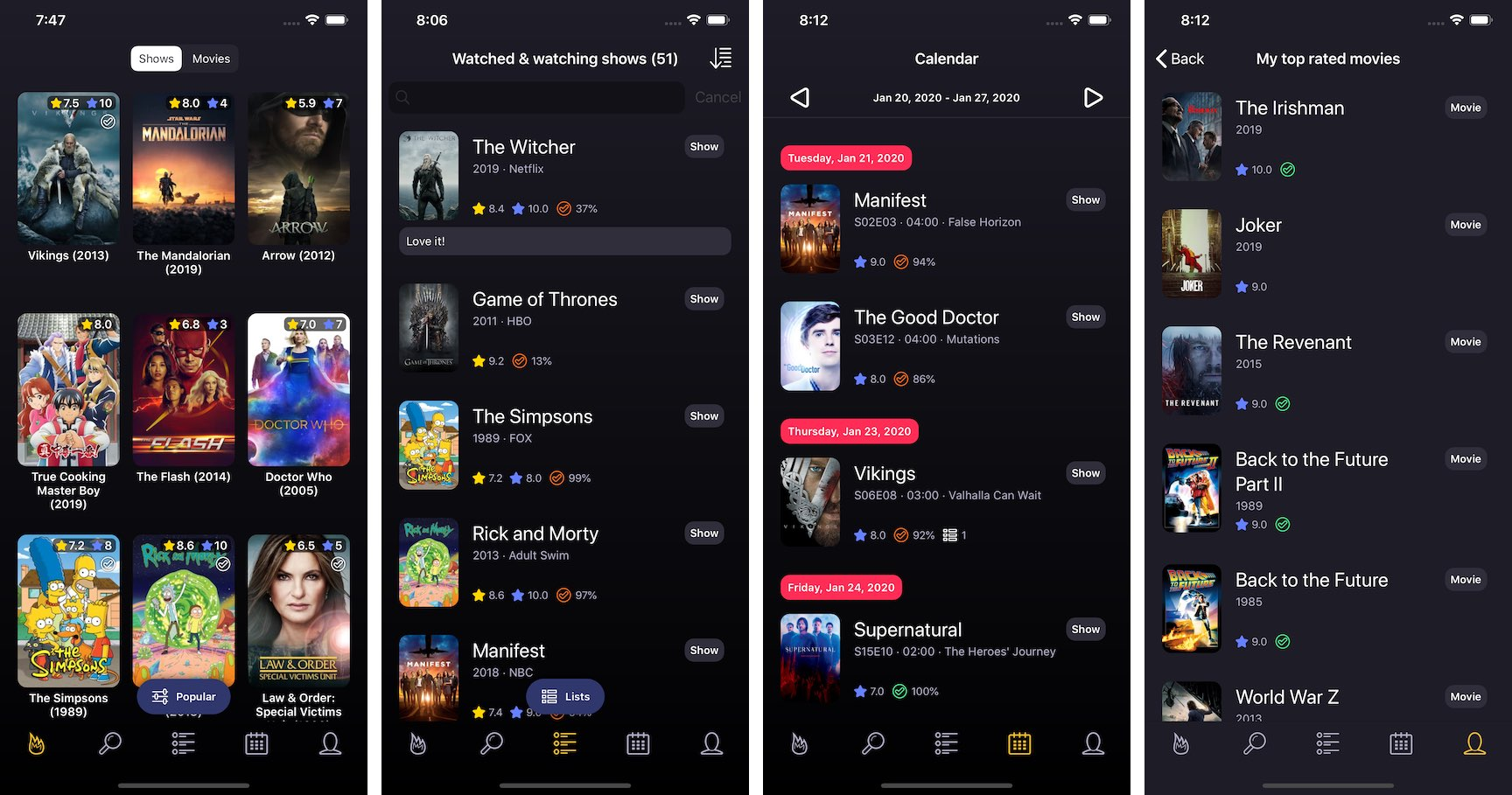 TVSofa allows you to track TV shows and movies, integrated with popular streaming services 3