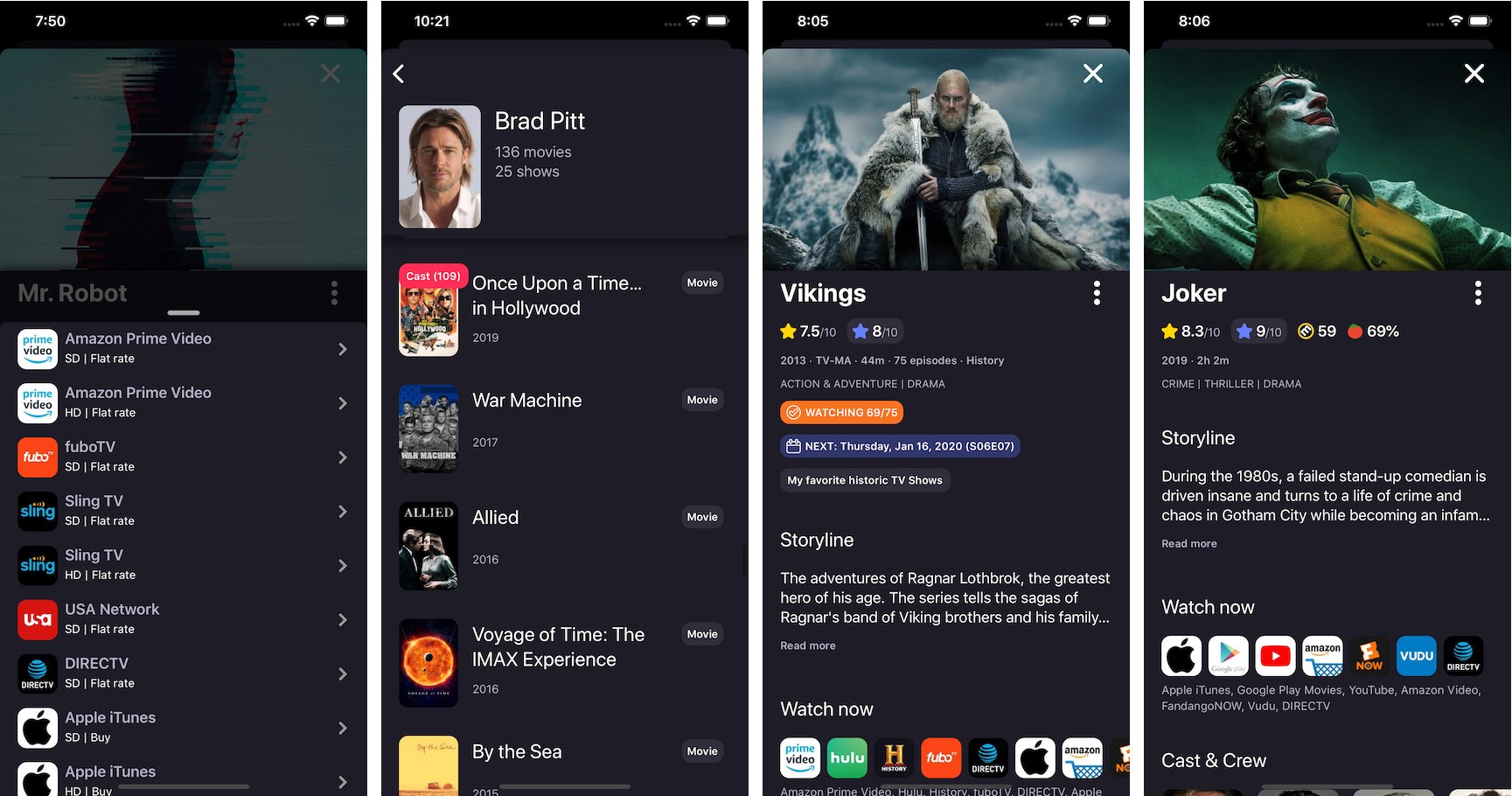 TVSofa allows you to track TV shows and movies, integrated with popular streaming services 5