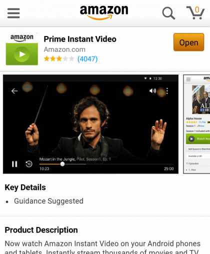 Sida loo eego Amazon Prime Instant Video on Android 2