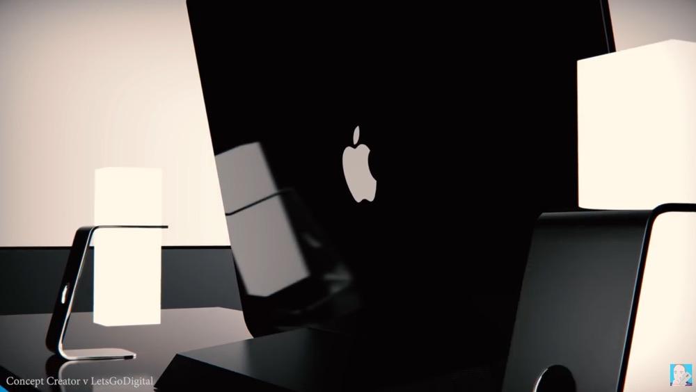 Bir şüşə dilimdən hazırlanmış əyri iMac xəyal edən video 2