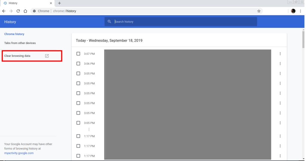 Cómo eliminar todo el historial de búsqueda en Google