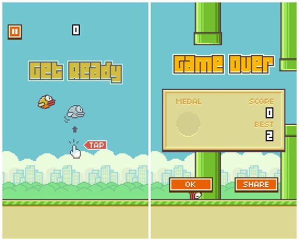 "Flappy Bird iPhone iPad ""ancho ="" 600 ""altura ="" 483"