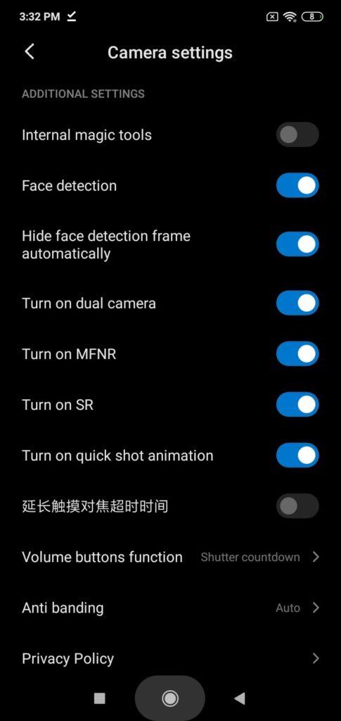 Aplikasi kamera Xiaomi dengan fitur eksperimental