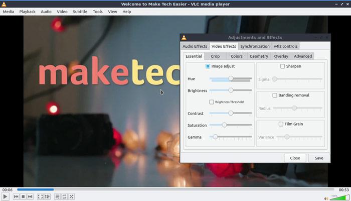 Video Vlc actualizado color y saturación