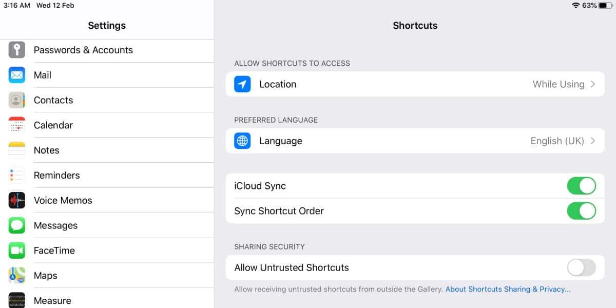 """Cómo solucionar """"Permitir accesos directos no confiables"""" en gris en iOS 2"""