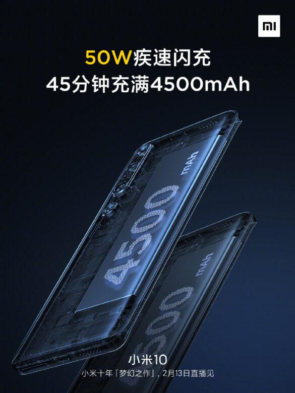 4500 mAh hỗ trợ sạc nhanh 50 W cho Xiaomi Mi 10 | Evosmart.it
