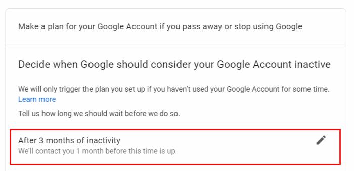 Google hesabları avtomatik silinir.