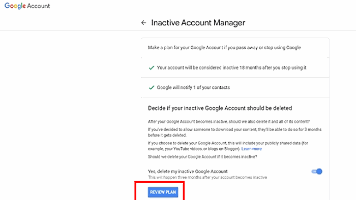 Google hesabınızı necə avtomatik silmək olar 3
