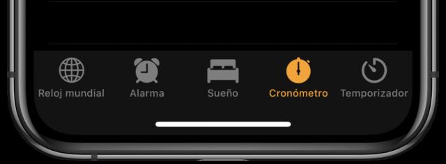Cronómetro de iPhone